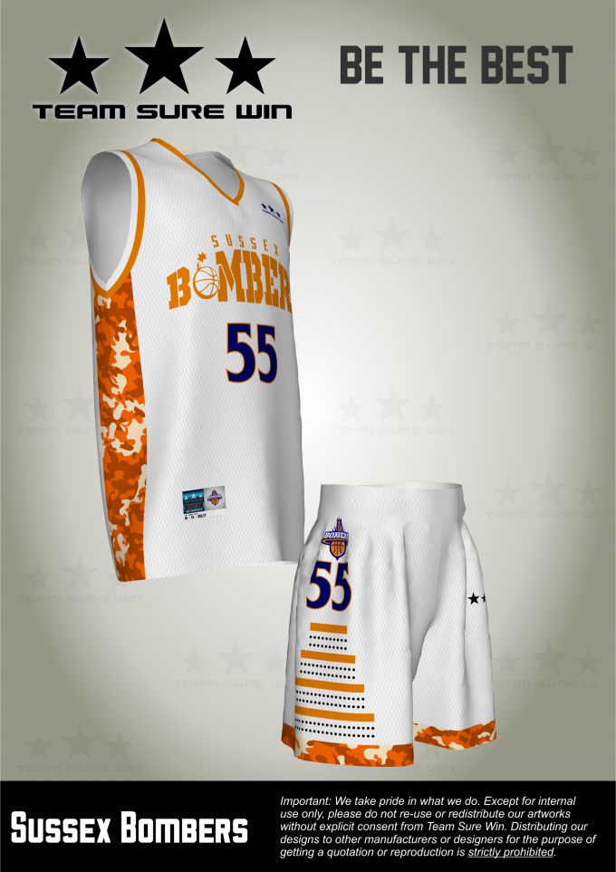 924435815e5 Sussex Bombers - Team Sure Win Sports Uniforms