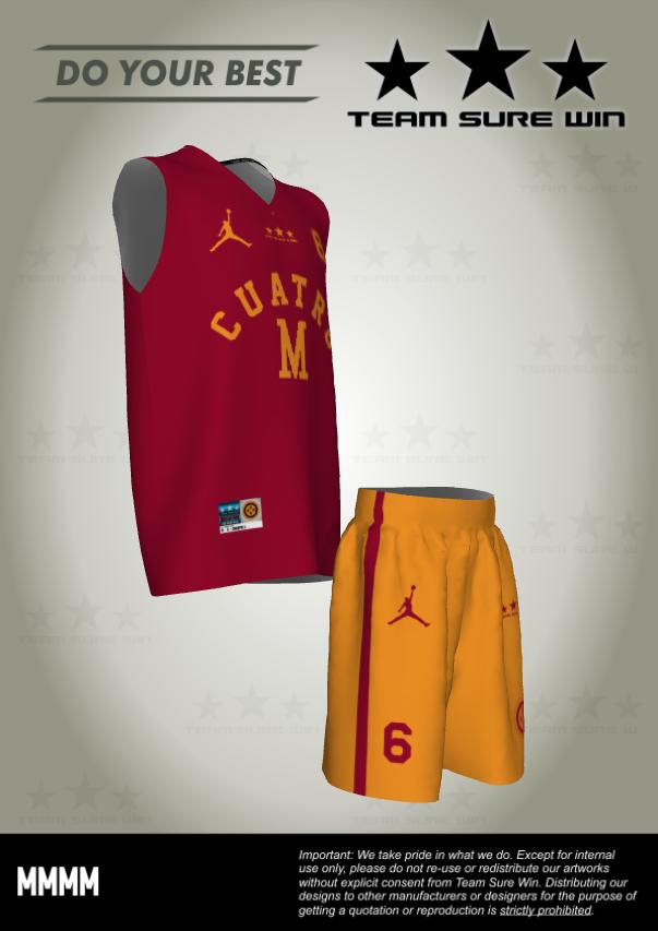 Cuatro M Sublimation Basketball Uniform