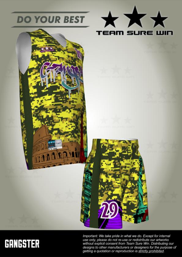 Sublimation basketball jersey uniform
