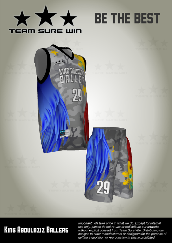 Full Bleed Sublimation Basketball Uniforms