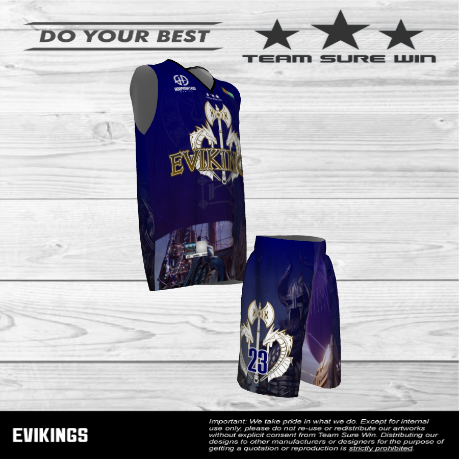 E Vikings Basketball Uniform